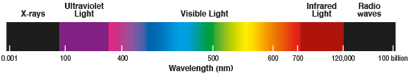 Ultraviolet light in the spectrum