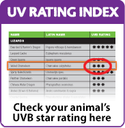 Check your animal's UVB star rating